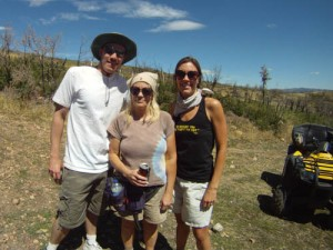 Spence, Mom and me.  Notice the fannypack.