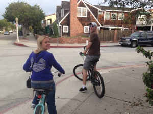 Jess and Spence cruising.